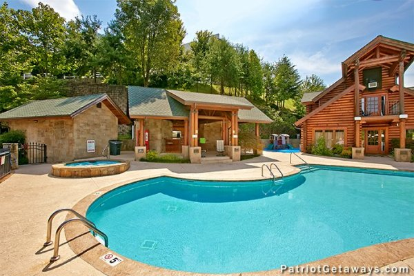 Clubhouse and pool access at Starry Starry Night #725, a 2 bedroom cabin rental located in Pigeon Forge