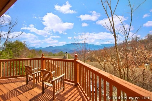 View of the Smoky Mountains at Gatlinburg Getaway, a 3-bedroom cabin rental located in Gatlinburg