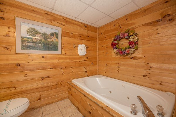 Jacuzzi at Fox Ridge, a 3 bedroom cabin rental located in Pigeon Forge