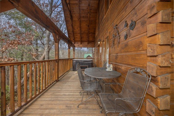 Loft deck at Fox Ridge, a 3 bedroom cabin rental located in Pigeon Forge