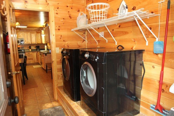 Laundry room at Rustic Romance, a 2 bedroom cabin rental located in Pigeon Forge