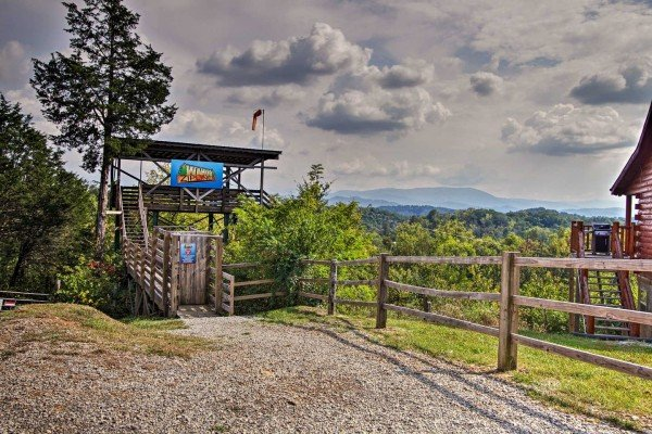 Wahoo Ziplines nearby the cabin Mountain Life, a 2 bedroom cabin rental located in Pigeon Forge