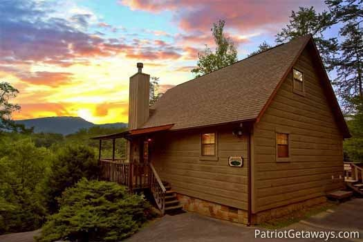 Two story log home called Cabin on the Hill, a 1-bedroom cabin rental located in Pigeon Forge
