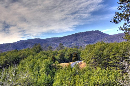 Amazing mountain view of the Smokies from Cabin on the Hill, a 1-bedroom cabin rental located in Pigeon Forge