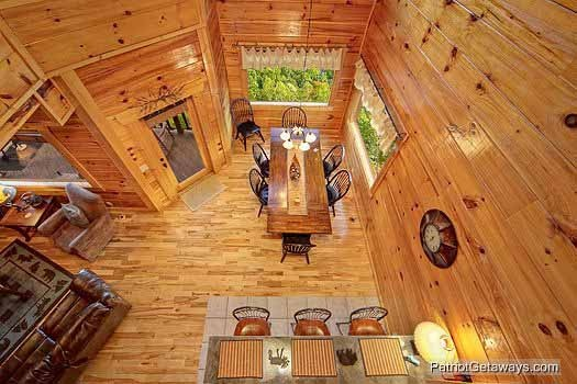 Dining area for six at Majestic Mountain View, a 2 bedroom cabin rental located in Pigeon Forge