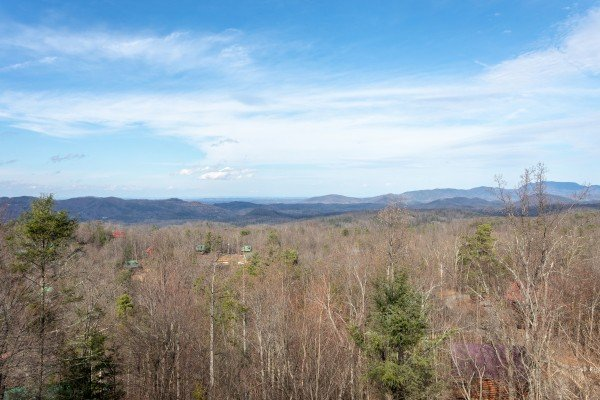 Mountain view at 5 Star View, a 3 bedroom cabin rental located in Gatlinburg