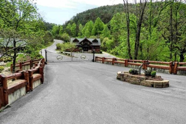 Gated community location for Little Chateau, a 1 bedroom cabin rental located in Pigeon Forge