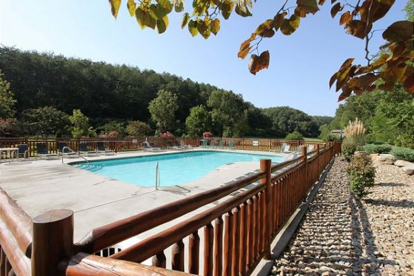 Bear Creek Crossing outdoor pool for guests at Azalea Point, a 2 bedroom cabin rental located in Pigeon Forge