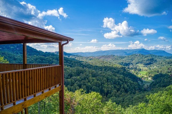 Mountain views at Four Seasons Palace, a 5-bedroom cabin rental located in Pigeon Forge