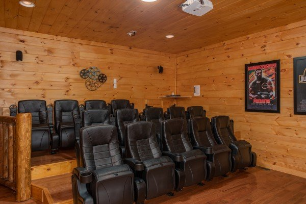 Theater style seating for 14 people at Four Seasons Palace, a 5-bedroom cabin rental located in Pigeon Forge