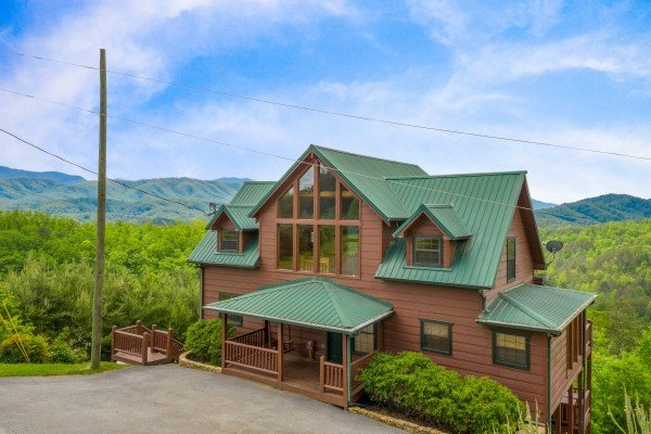 Exterior at Mountain Bliss, a 2 bedroom cabin rental located in Pigeon Forge