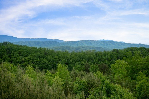 Smoky Mountain views at Mountain Bliss, a 2 bedroom cabin rental located in Pigeon Forge