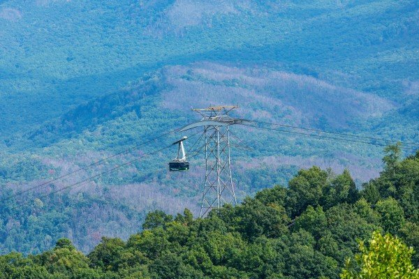 Watch the Gatlinburg Tram at Summit Condo 1208, a 2 bedroom cabin rental located in Gatlinburg