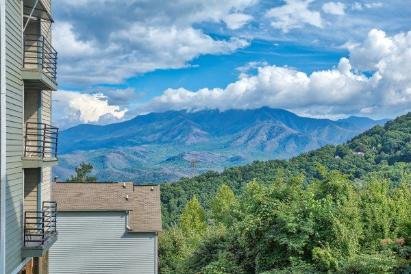 Mount LeConte view at Summit Condo 1208, a 2 bedroom cabin rental located in Gatlinburg