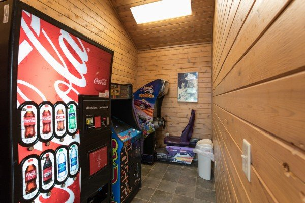 Game center for guests at Summit Condo 1208, a 2 bedroom cabin rental located in Gatlinburg