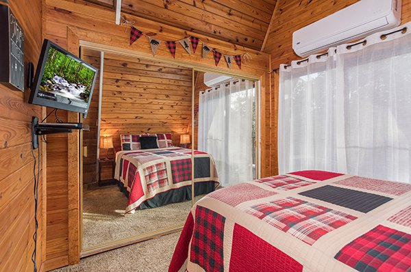 Mirrored bedroom closet at 2 The Mountains, a 3 bedroom cabin rental located in Gatlinburg