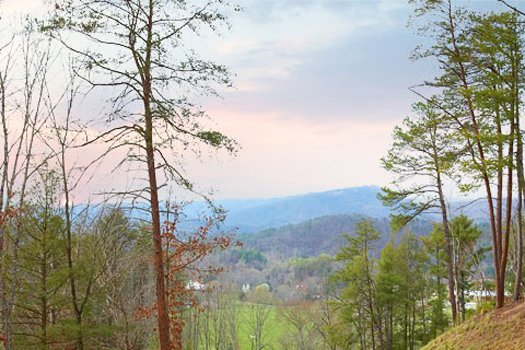 Mountain views at Let the Good Times roll, a 2 bedroom cabin rental in Pigeon Forge