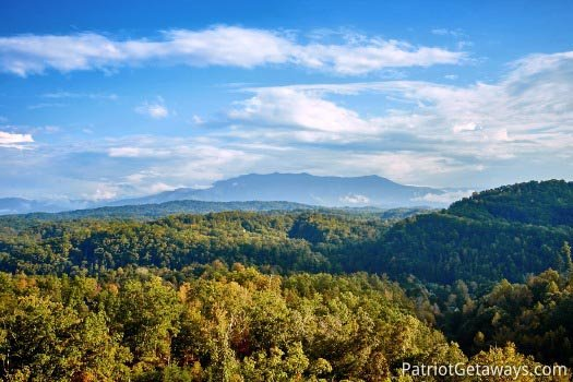 Beautiful mountain view at The Big View, a 4 bedroom cabin rental located in Pigeon Forge