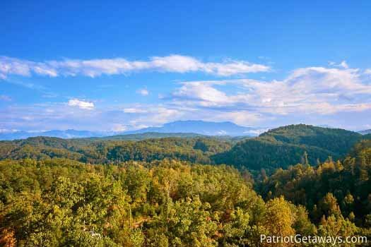 View from deck at The Big View, a 4 bedroom cabin rental located in Pigeon Forge