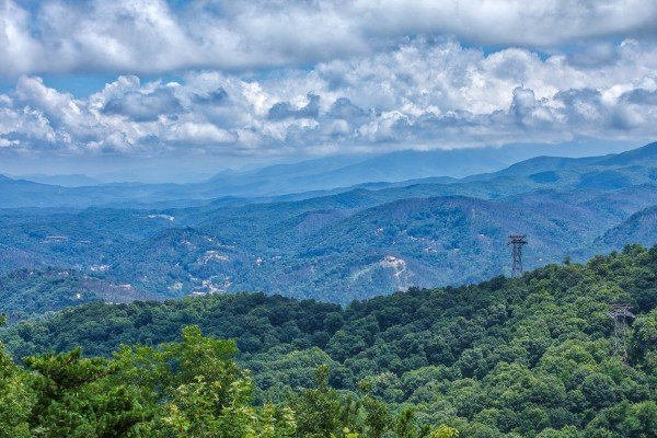 Mountain view seen from Over Ober Lodge, a 5 bedroom cabin rental located in Gatlinburg