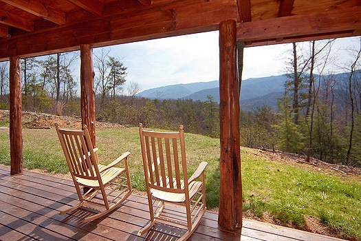 Smoky Mountain views from Looky Yonder, a 2 bedroom cabin rental located in Gatlinburg