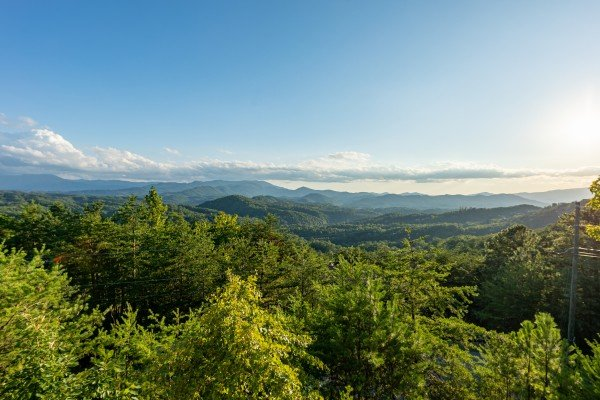 Mountain view at Black Bear Ridge, a 3-bedroom cabin rental located in Pigeon Forge