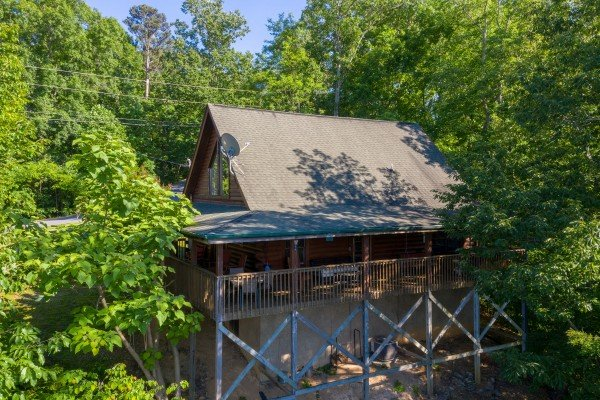 Cabin exterior at Grand View, a 3 bedroom cabin rental located in Sevierville