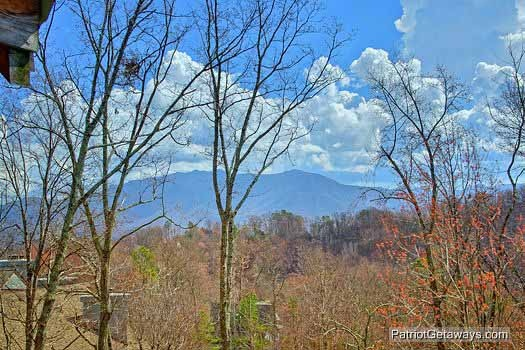 Smoky Mountain views from Alpine Pointe, a 5 bedroom cabin rental located in Gatlinburg