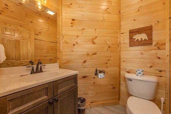 Bathroom at Wet Feet Retreat, a 5 bedroom cabin rental located in Pigeon Forge