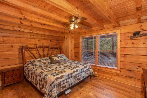 Bedroom with a king bed at Wonders in the Sky, a 3 bedroom cabin rental located in Gatlinburg