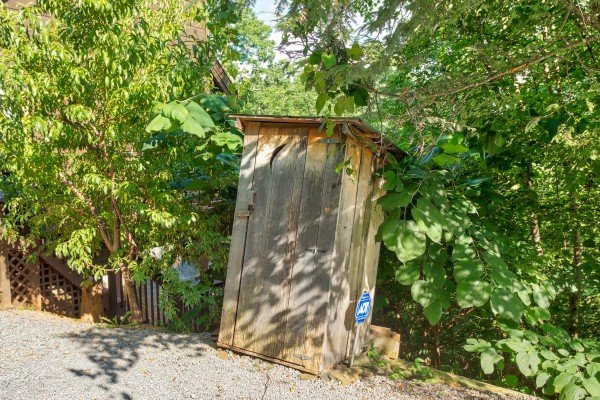 Outhouse at Wonders in the Sky, a 3 bedroom cabin rental located in Gatlinburg