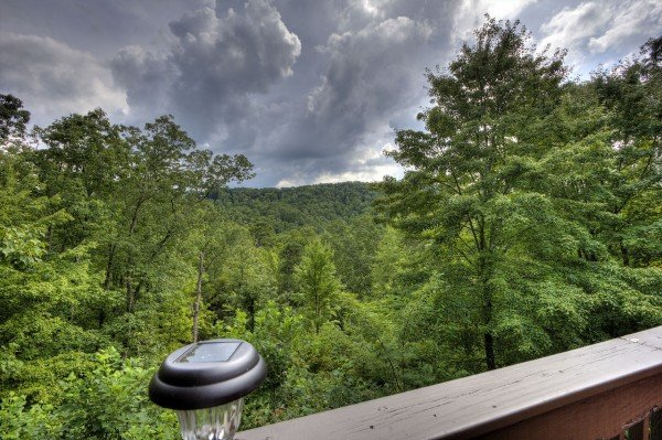 Stormy mountain sky at Wonders in the Sky, a 3 bedroom cabin rental located in Gatlinburg