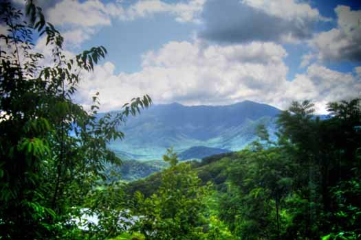 Smoky Mountain views from The Majestic, an 8 bedroom cabin rental located in Gatlinburg
