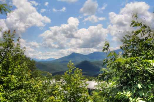 Smoky Mountain views from at The Majestic, an 8 bedroom cabin rental located in Gatlinburg