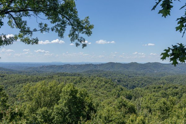 Mountain view at Eagles View Lodge, a 3 bedroom cabin rental located in Gatlinburg
