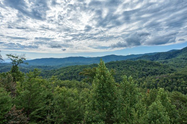 Smoky Mountain views at Majestic Views, a 3 bedroom cabin rental located in Pigeon Forge