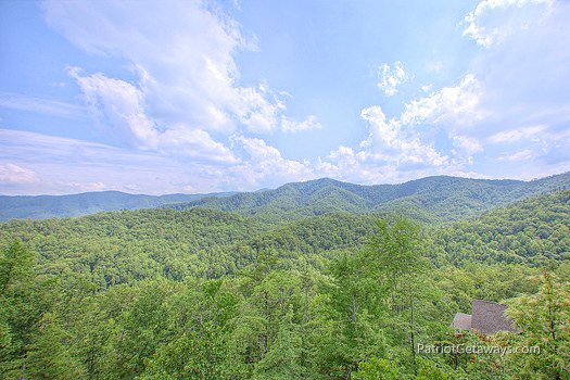 View of the Smoky Mountains at Majestic Views, a 3 bedroom cabin rental located in Pigeon Forge
