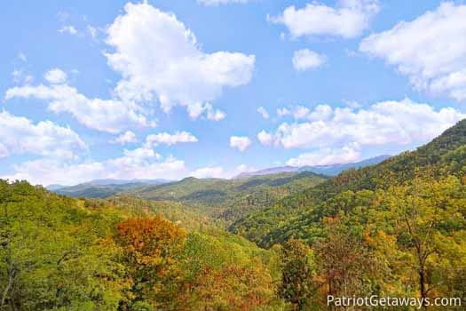 smoky mountain views from don't blink! a 5 bedroom cabin rental located in pigeon forge