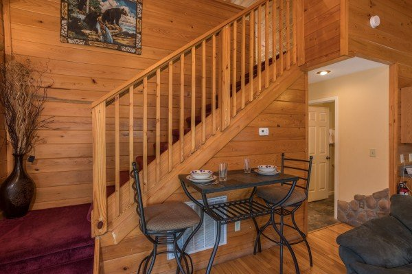 Bistro dining set for two at Mountain Laurel, a 1 bedroom cabin rental located in Gatlinburg