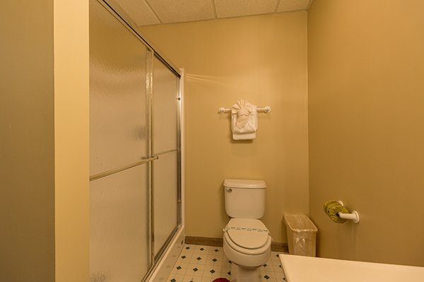 Bathroom with a shower stall at Lazy Dayz Lodge, a 4 bedroom cabin rental located in Pigeon Forge