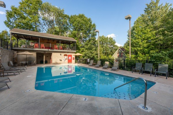 Pool access for guests at Lazy Dayz Lodge, a 4 bedroom cabin rental located in Pigeon Forge