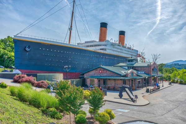 The Titanic Museum is near Pine Splendor, a 5 bedroom cabin rental located in Pigeon Forge