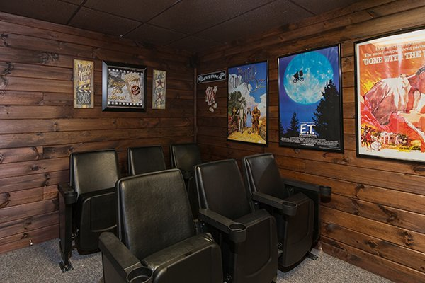 Theater seating at Up the Creek, a 4 bedroom cabin rental located in Gatlinburg