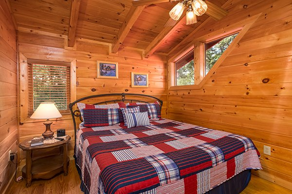 Upstairs bedroom at Friends in High Places, a 4-bedroom cabin rental located in Pigeon Forge