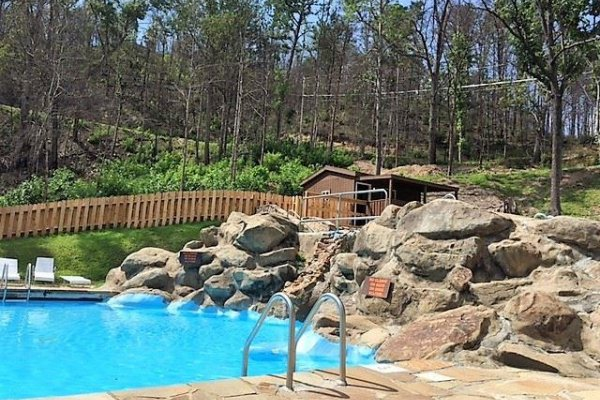 Pool for guests at sensational views a 3 bedroom cabin rental located in gatlinburg