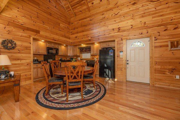 Dining table at Sensational Views, a 3 bedroom cabin rental located in Gatlinburg