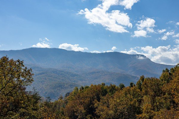 Mountain views at Sensational Views, a 3 bedroom cabin rental located in Gatlinburg