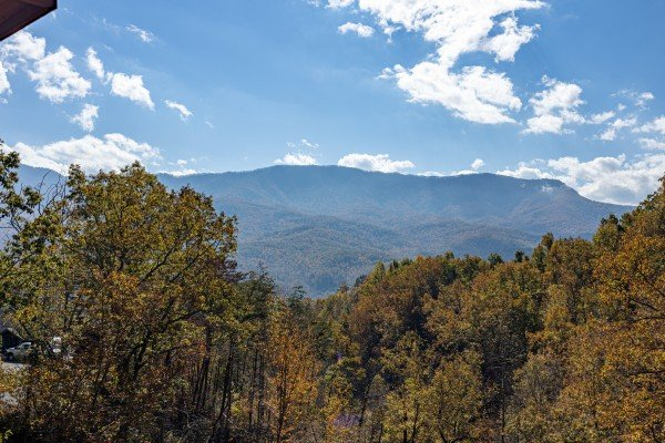 Mountain view at Sensational Views, a 3 bedroom cabin rental located in Gatlinburg