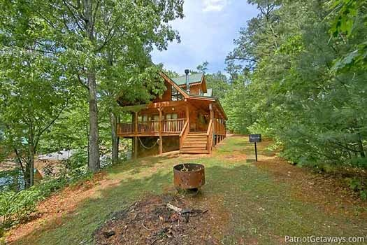 Fire pit at Fox Ridge, a 3-bedroom cabin rental located in Pigeon Forge