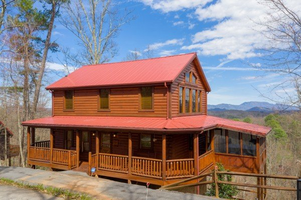 Front exterior at Gone to Therapy, a 2 bedroom cabin rental located in Gatlinburg